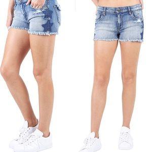 STS Blue Boyfriend Fray Hem Star Jeans Size 27
